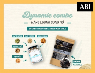 DYNAMIC COMBO | Hạt Dinh Dưỡng ABINOW | Everest Booster | Mận ChiLe | 200g | ABI NOW