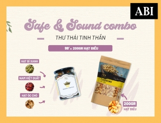 SAFE AND SOUND COMBO | Hạt Dinh Dưỡng ABINOW | 99's | Hạt Điều | 200g | ABI NOW